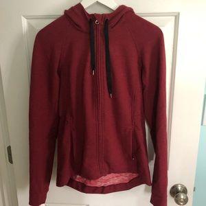 Rare Lululemon Red Zip Up Sweatshirt